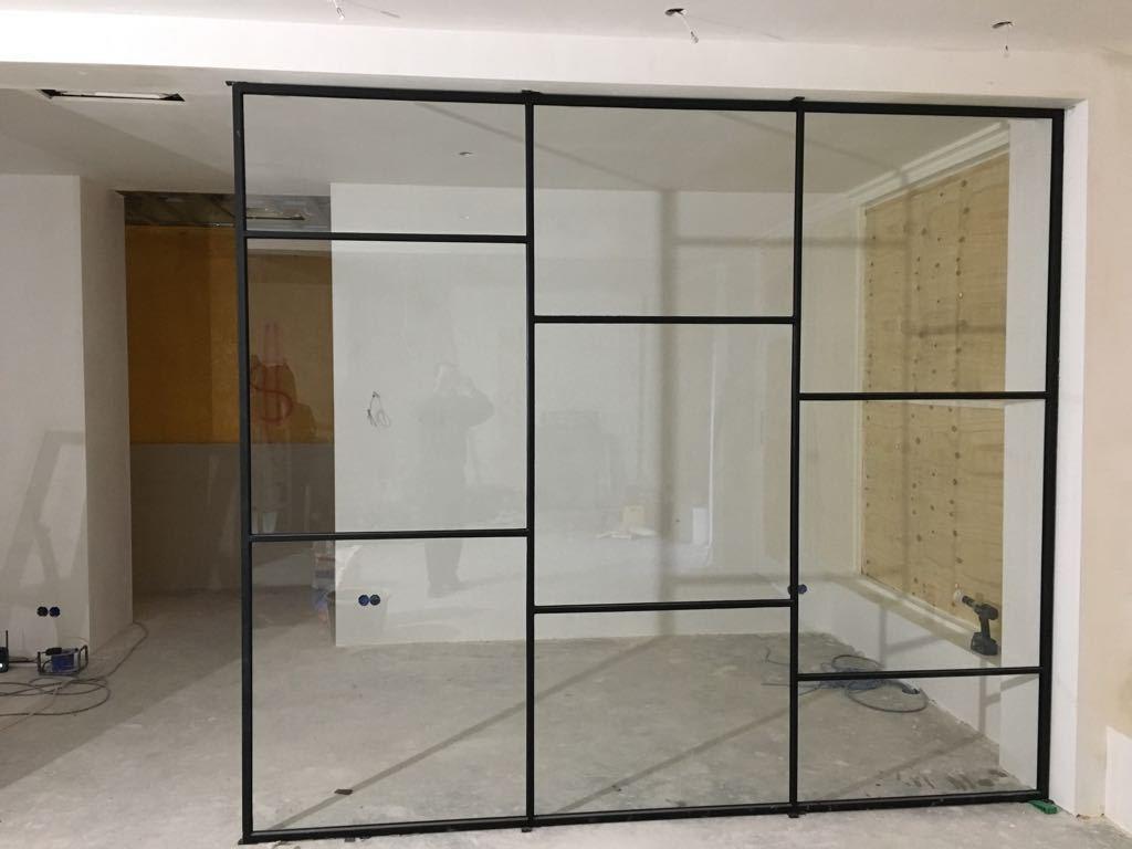stalen glazen binnendeur